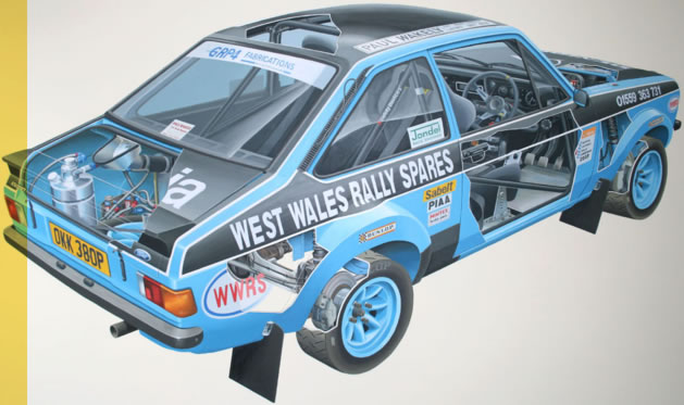 West Wales Rally Spares are specialists in Group 4 Escort motorsport components
