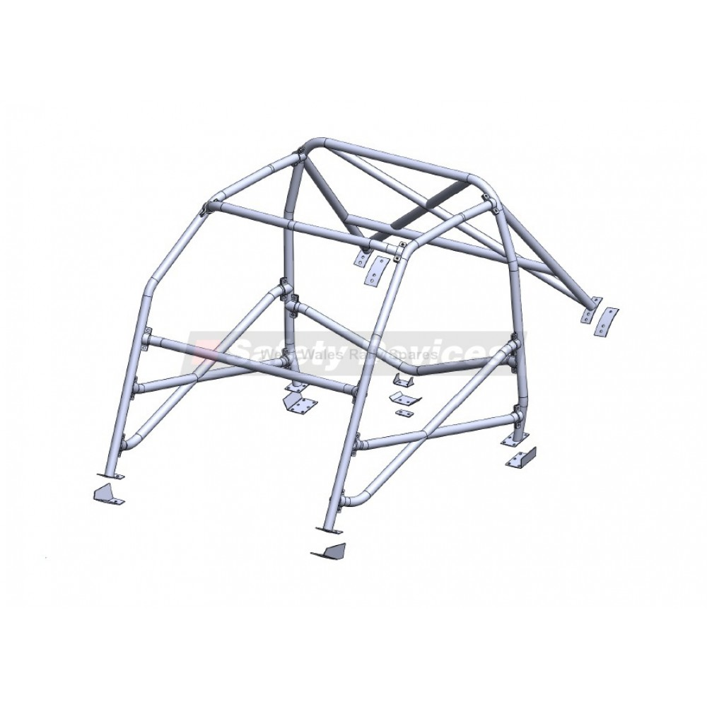 Ford Escort MK1 Safety Devices 6 Point Rollcage with X Diagonal X d