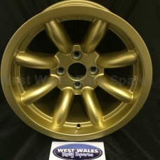 Revolution 8 Spoke Classic Rally Wheel 9x15 Escort Group 4 Gold