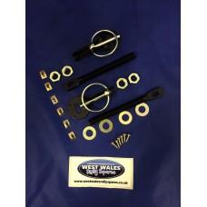 Bonnet Pins Black Alloy