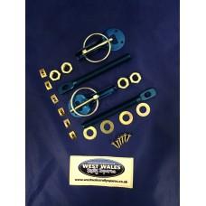 Bonnet Pins Blue Alloy