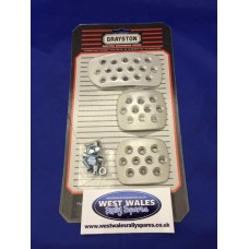 Grayston Silver Alloy Pedal Pads