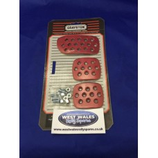 Grayston Red Alloy Pedal Pads