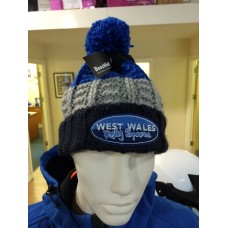 WWrs Blue/Grey Bobble hat