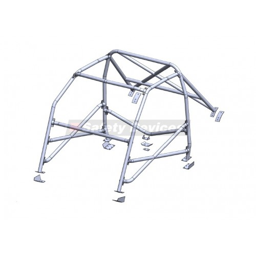 Ford Escort MK1 6 Point Rollcage with X Diagonal X d/bars Tunnel Brace And Dash Bar
