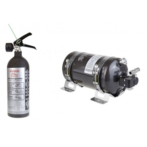 Lifeline Zero 360 Fire Extinguisher 3.0kg Electric & 2.0kg Novec 1230 Hand Held Rally Pack