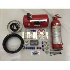 Lifeline plumbed in fire extinguisher 4ltr electric system zero 2000 Fire Marshal Rally Pack