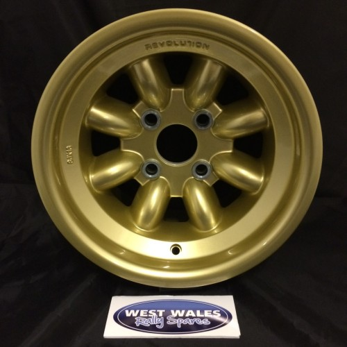 Revolution 8 Spoke Classic Rally Wheel 8x13 Escort Group 4 Gold